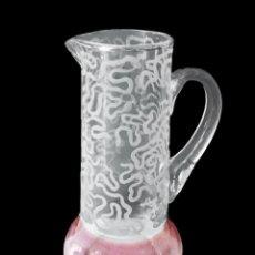 Antigüedades: ANTIGUA JARRA , BASE GRANATE, FILOS Y ESTRELLAS DE ORO, DIBUJO MODERNISTA, IMPECABLE.. Lote 50647603