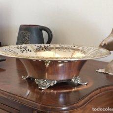 Antigüedades: FUENTE DE ALPACA CALADA. Lote 94483095