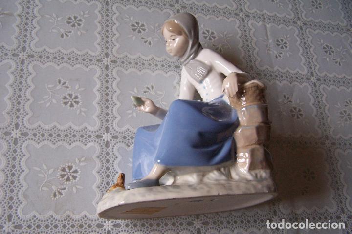 Antigüedades: Figura de mujer de porcelana pintada. Rex, valencia. Hand made (hecho a mano). - Foto 5 - 94487510