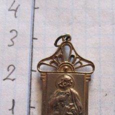 Antigüedades: MEDALLA EN BRONCE SOBREDORADO SAN ANTONIO. Lote 94492778