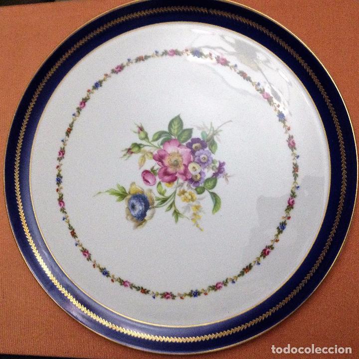 Antigüedades: Fuente pintada de porcelana de Limoges - Foto 2 - 94527818