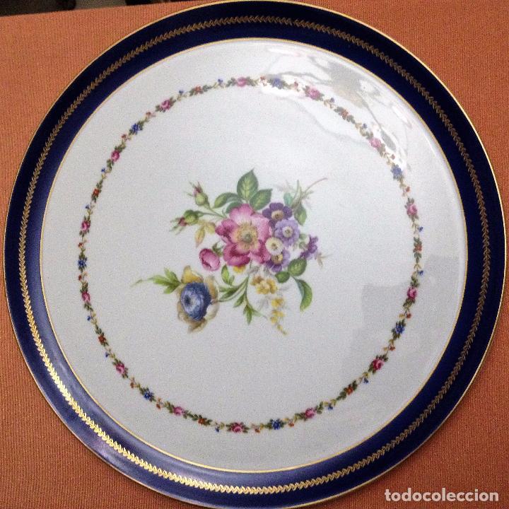 Antigüedades: Fuente pintada de porcelana de Limoges - Foto 3 - 94527818