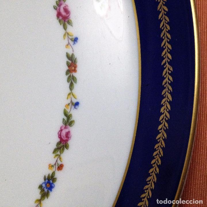 Antigüedades: Fuente pintada de porcelana de Limoges - Foto 6 - 94527818