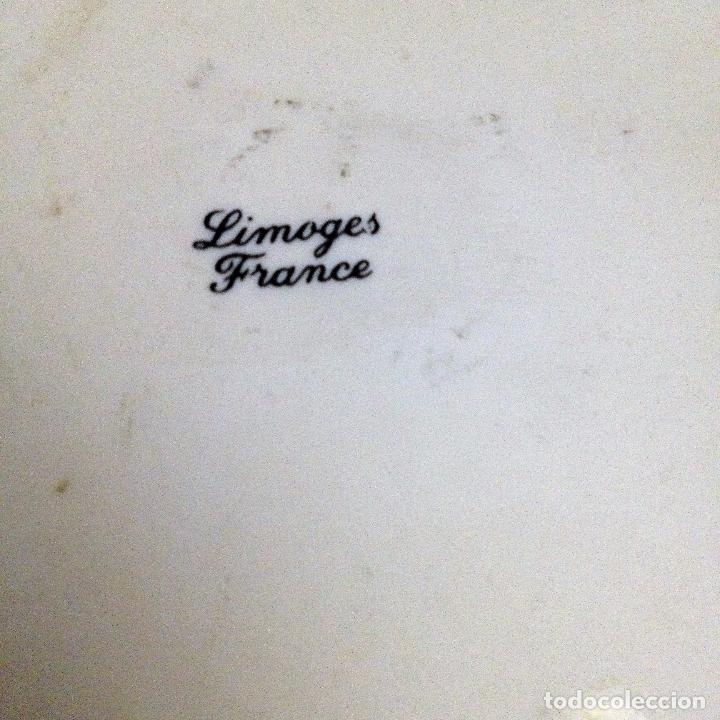 Antigüedades: Fuente pintada de porcelana de Limoges - Foto 8 - 94527818