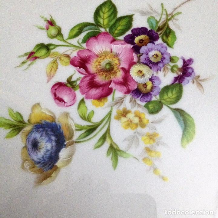 Antigüedades: Fuente pintada de porcelana de Limoges - Foto 10 - 94527818