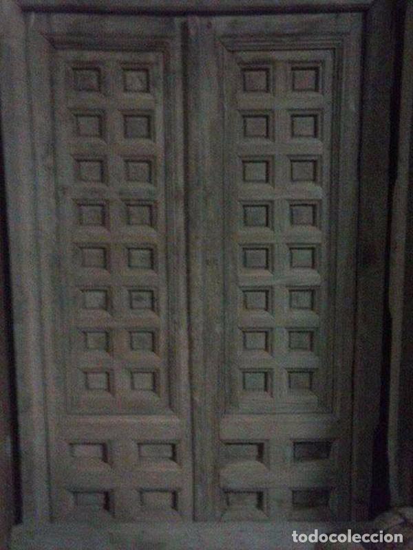 puerta antigua doble hoja con marco - Comprar Antigüedades Varias en ...