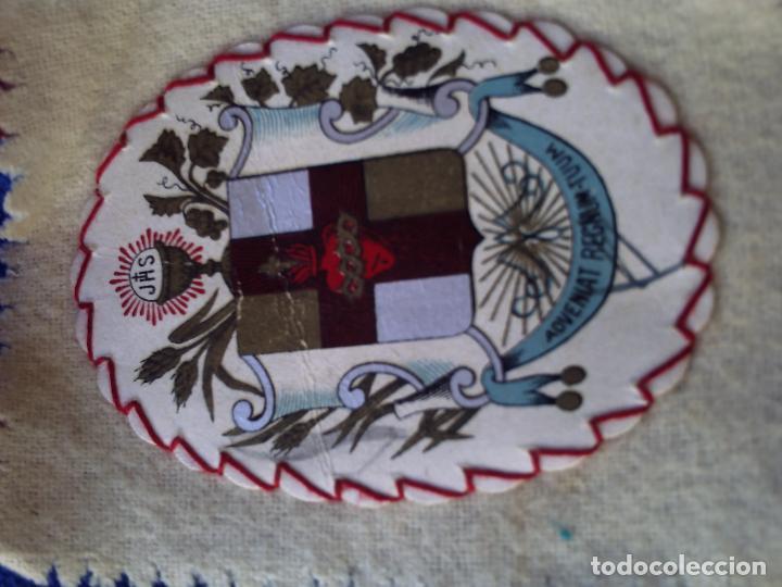 Antigüedades: VIEJO ESCAPULARIO APOSTOLADO DE LA ORACION VENGA A NOS EL TU REINO. PIO IX 14 JUNIO 1877. - Foto 3 - 94542811