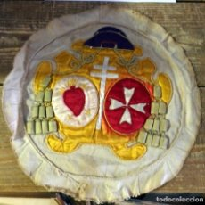 Antigüedades: SEMANA SANTA SEVILLA, ANTIQUISIMO ESCUDO DE CAPA DE LA HERMANDAD DE LOS GITANOS. Lote 94550247