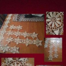 Antigüedades: ANTIGUOS MAGNIFICOS ENCAJES ESTRELLAS . IDEAL CONFECCIONES RELIGIOSAS VIRGEN SEMANA SANTA VER FOTOS. Lote 94557955