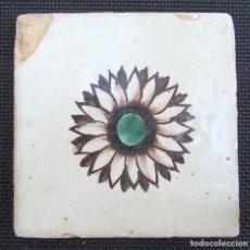 Antigüedades: AZULEJO DE BARCELONA DE MUESTRA, SIGLO XVIII. Lote 94560919