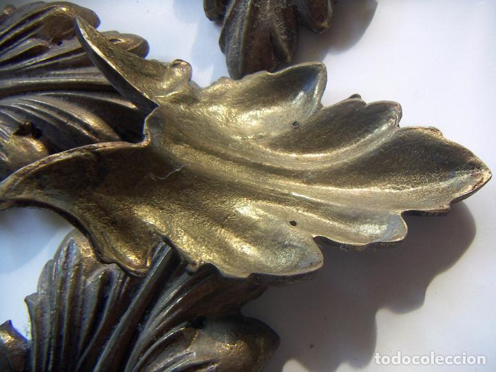 Antigüedades: Juego de adornos de bronce para marco grandes - Foto 3 - 94586575