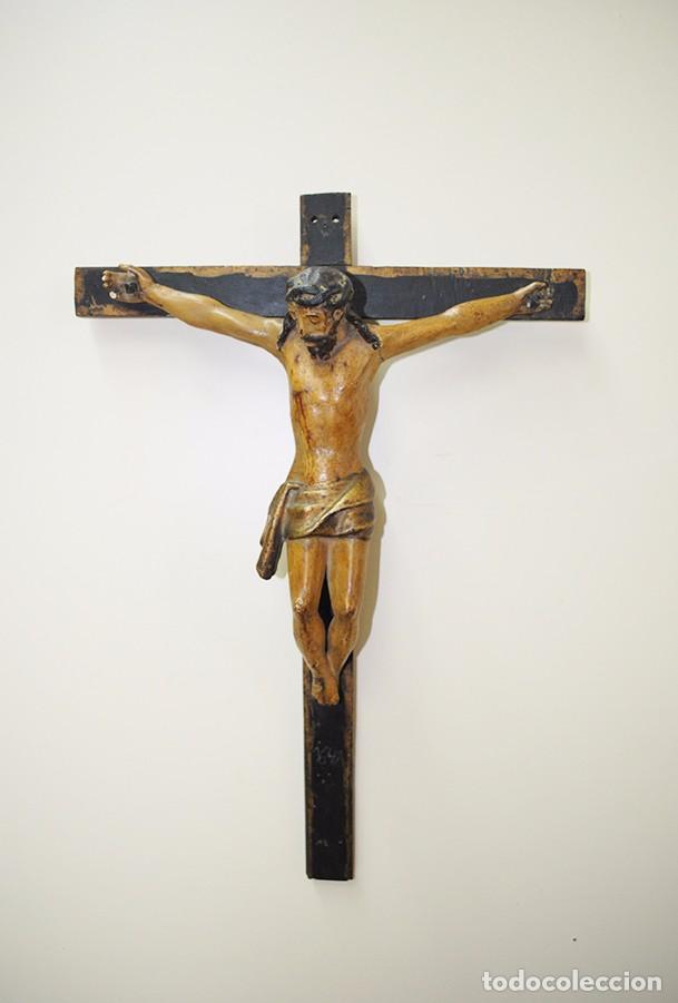 CRUCIFIJO MUY ANTIGUO DEL SIGLO XVII (Antigüedades - Religiosas - Crucifijos Antiguos)