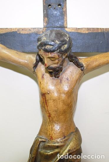 Antigüedades: CRUCIFIJO MUY ANTIGUO DEL SIGLO XVII - Foto 3 - 94592939