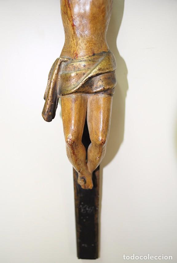 Antigüedades: CRUCIFIJO MUY ANTIGUO DEL SIGLO XVII - Foto 4 - 94592939