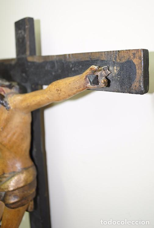 Antigüedades: CRUCIFIJO MUY ANTIGUO DEL SIGLO XVII - Foto 6 - 94592939