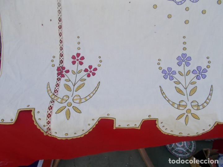 Antigüedades: cortina bordada - Foto 3 - 221340790