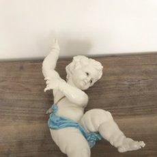 Antigüedades: FIGURA PORCELANA ANGELITO ANGEL ALGORA 39 CM. Lote 94620606