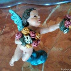 Antigüedades: ANGELITO CON FLORES MAYO. Lote 94627486