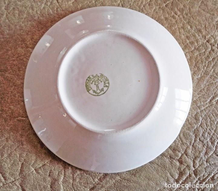 Antigüedades: juego tazas y platos cafe tacitas platitos porcelana pickman cartuja sevilla - Foto 4 - 94630947
