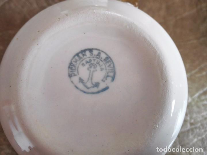 Antigüedades: juego tazas y platos cafe tacitas platitos porcelana pickman cartuja sevilla - Foto 5 - 94630947