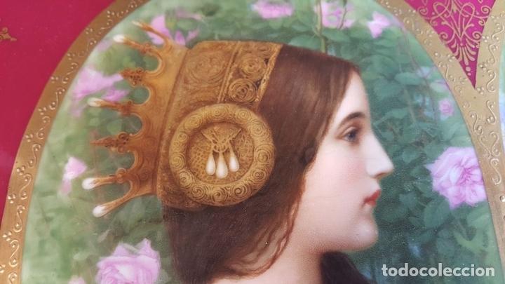 Antigüedades: PLATO DE PORCELANA. ROYAL VIENA. ESMALTADO. MARCA EN LA BASE. SIGLO XIX-XX. - Foto 16 - 94634315