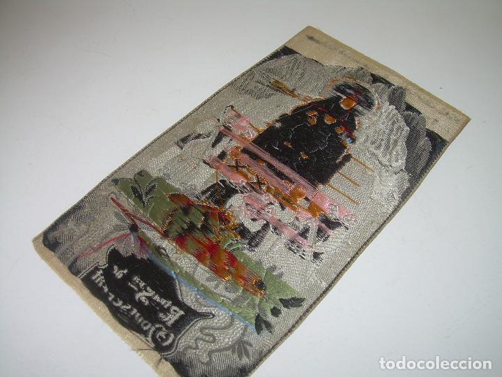 Antigüedades: ANTIGUO ESCAPULARIO DE TELA....NTA.SRA. DE MONTSERRAT..DE TELA..REALIZADO EN JACQUARD....AÑO..1.924. - Foto 4 - 94684975
