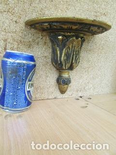 Antigüedades: MAGNIFICA Y ANTIGUA MENSULA EN CASTAÑO PAN DE ORO SIGLO XIX PARA UNA I IMAGEN O ESTATUA - Foto 4 - 94687971