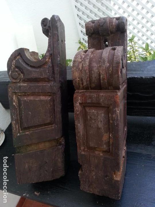 MÉNSULAS ANTIGUAS, SXVII DE IMPORTANTE CASA SEVILLANA (Antigüedades - Muebles Antiguos - Ménsulas Antiguas)