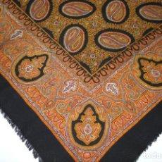 Antigüedades - Antiguo pañuelo de merino estampado - 94721703