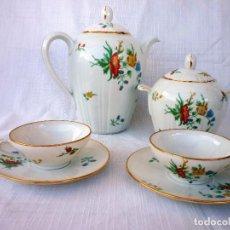 Antigüedades: JUEGO DE CAFE DE PORCELANA DE LIMOGES. Lote 97904291
