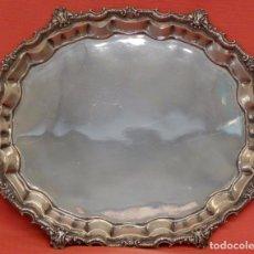Antigüedades: BANDEJA EN PLATA DE LEY DEL PLATERO PALLE. CIRCA 1940. Lote 94733431