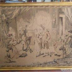 Antigüedades: TAPIZ, CLASE DE BAILE,ROMÁNTICO, FINALES DEL SIGLO.XIX.. Lote 94736639