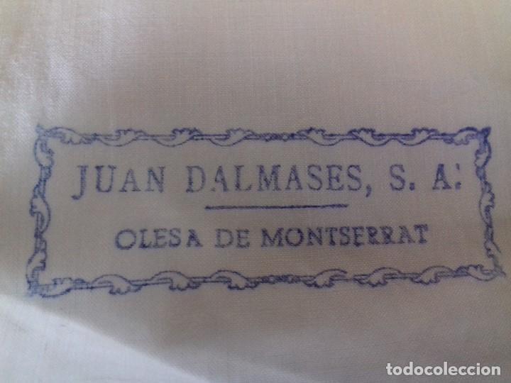 Antigüedades: ANTIGUO CORTE DE SABANA DE FINO Y BUEN ALGODON. JUAN DALMASES S.A.- OLESA DE MONSERRAT. BLANCO CRUDO - Foto 3 - 94752903
