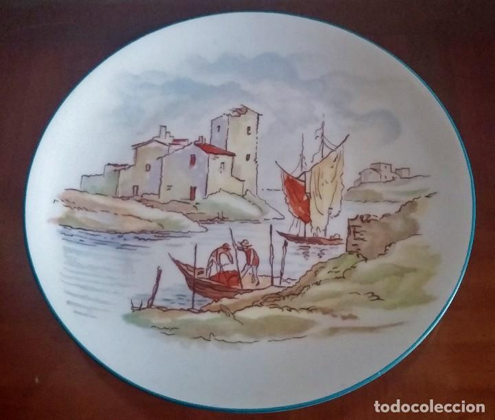 PLATO DECORATIVO - PORCELANA SANTA CLARA - REF. 799 (Antigüedades - Porcelanas y Cerámicas - Santa Clara)