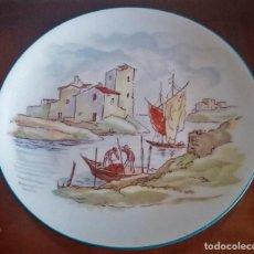 Antigüedades: PLATO DECORATIVO - PORCELANA SANTA CLARA - REF. 799. Lote 94753155