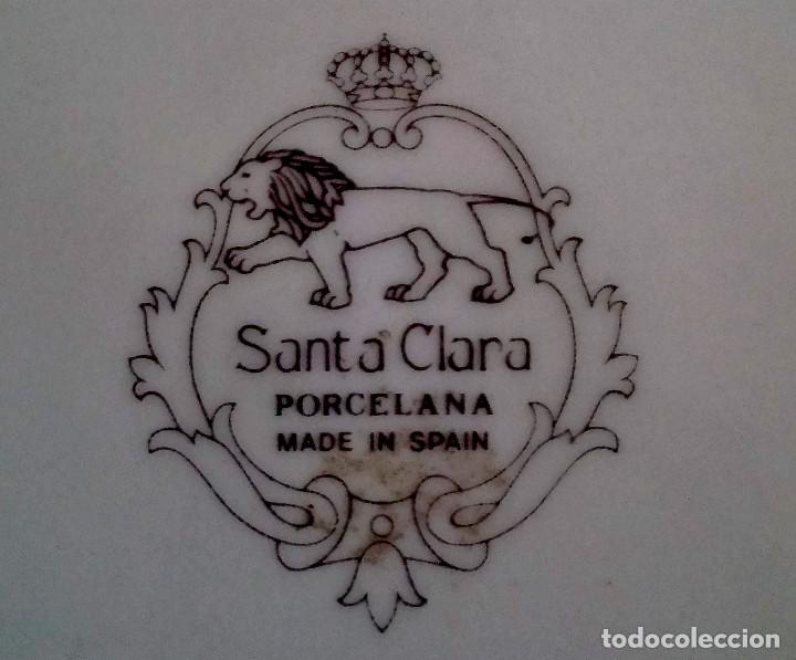 Antigüedades: Plato decorativo - porcelana Santa Clara - Ref. 799 - Foto 2 - 94753155