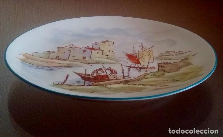 Antigüedades: Plato decorativo - porcelana Santa Clara - Ref. 799 - Foto 3 - 94753155
