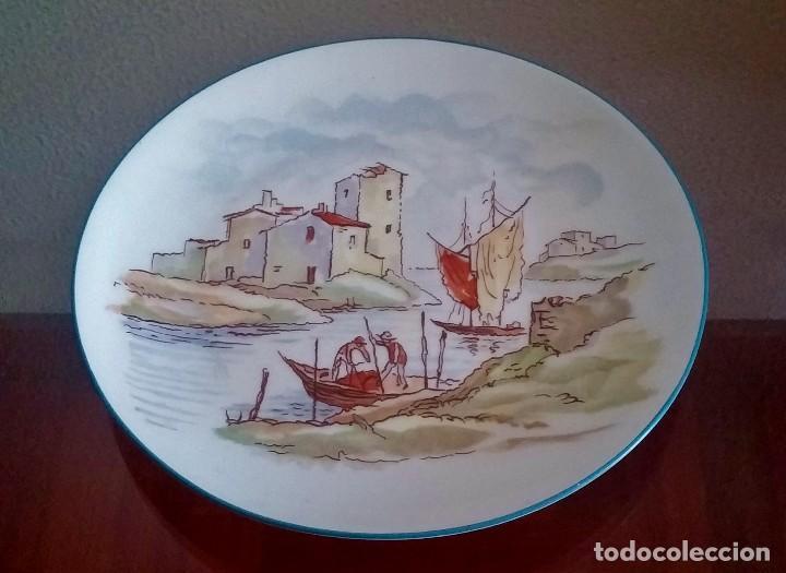 Antigüedades: Plato decorativo - porcelana Santa Clara - Ref. 799 - Foto 4 - 94753155