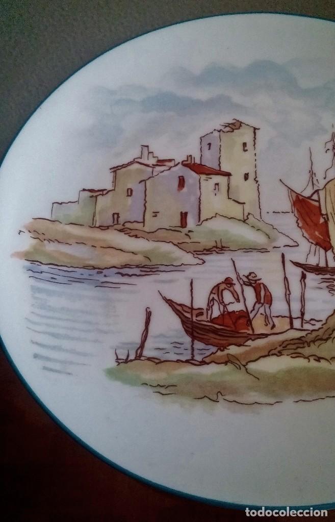 Antigüedades: Plato decorativo - porcelana Santa Clara - Ref. 799 - Foto 5 - 94753155