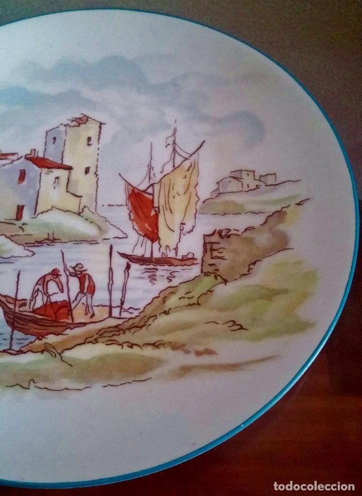 Antigüedades: Plato decorativo - porcelana Santa Clara - Ref. 799 - Foto 6 - 94753155