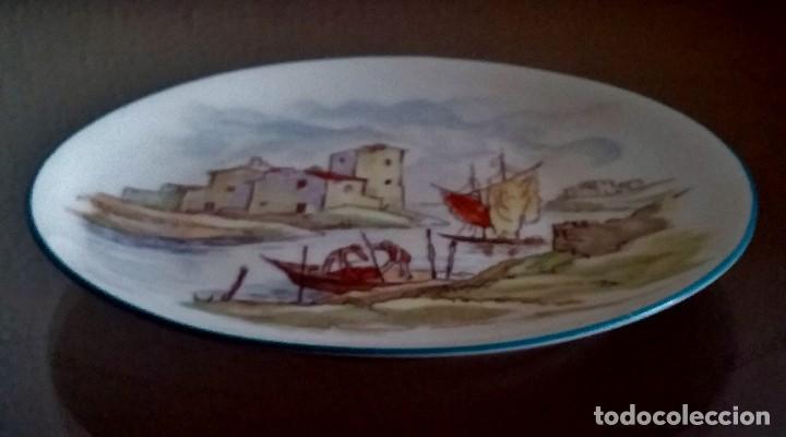 Antigüedades: Plato decorativo - porcelana Santa Clara - Ref. 799 - Foto 8 - 94753155