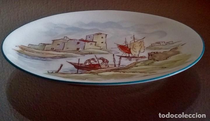 Antigüedades: Plato decorativo - porcelana Santa Clara - Ref. 799 - Foto 9 - 94753155