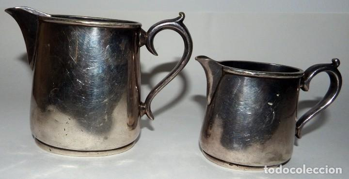 Antigüedades: LECHERAS BAÑADAS EN PLATA MARCA SHEFFIELD LONDON - Foto 3 - 94795071