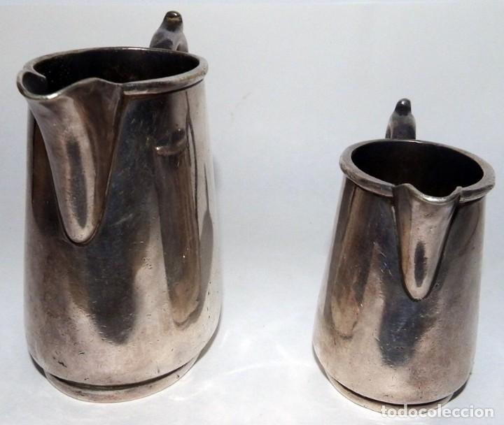Antigüedades: LECHERAS BAÑADAS EN PLATA MARCA SHEFFIELD LONDON - Foto 6 - 94795071