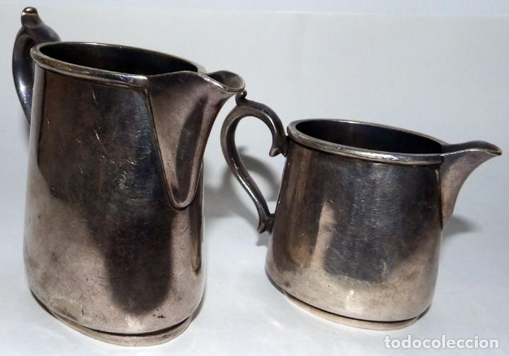 Antigüedades: LECHERAS BAÑADAS EN PLATA MARCA SHEFFIELD LONDON - Foto 7 - 94795071