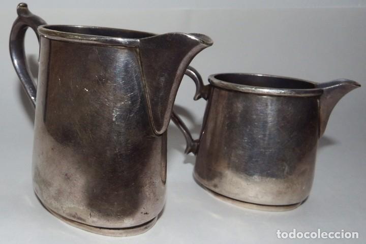 Antigüedades: LECHERAS BAÑADAS EN PLATA MARCA SHEFFIELD LONDON - Foto 8 - 94795071