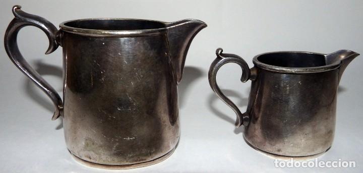 Antigüedades: LECHERAS BAÑADAS EN PLATA MARCA SHEFFIELD LONDON - Foto 9 - 94795071