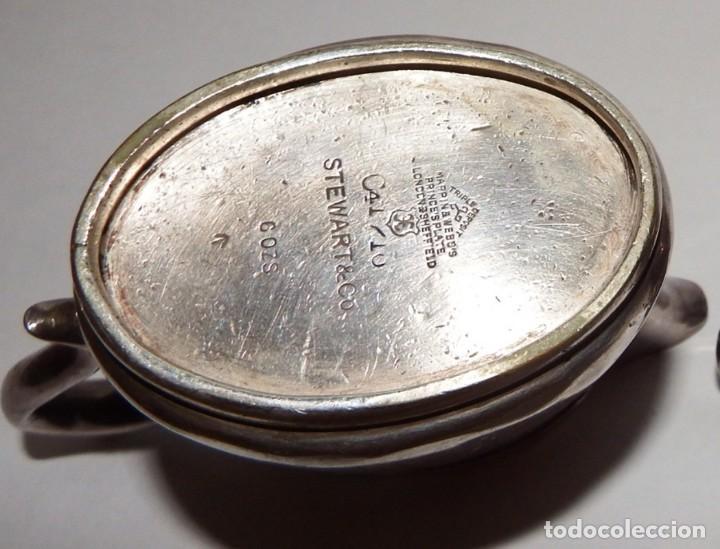 Antigüedades: LECHERAS BAÑADAS EN PLATA MARCA SHEFFIELD LONDON - Foto 12 - 94795071