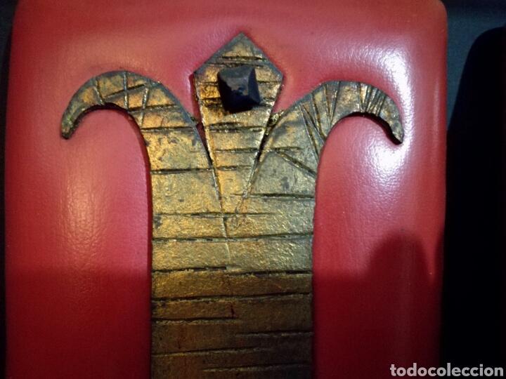 Antigüedades: Pareja de lamparas apliques lampara aplique pared bronce forja, vintage - Foto 3 - 94828680