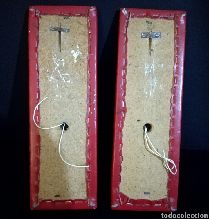 Antigüedades: Pareja de lamparas apliques lampara aplique pared bronce forja, vintage - Foto 4 - 94828680